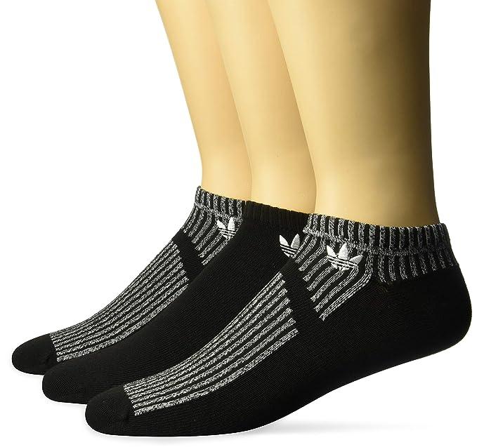 adidas Originals - Calcetines para hombre, diseño de malla - 977032, 6-12, Black/Black/White Marl/White: Amazon.es: Deportes y aire libre