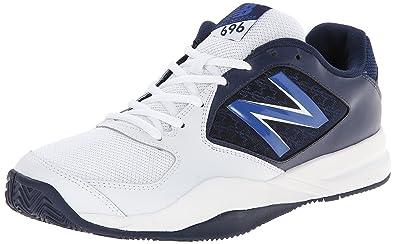on sale f4c2c 3d78a New Balance Men s MC696 Light Weight Tennis Shoe, White Navy, 7.5 D US