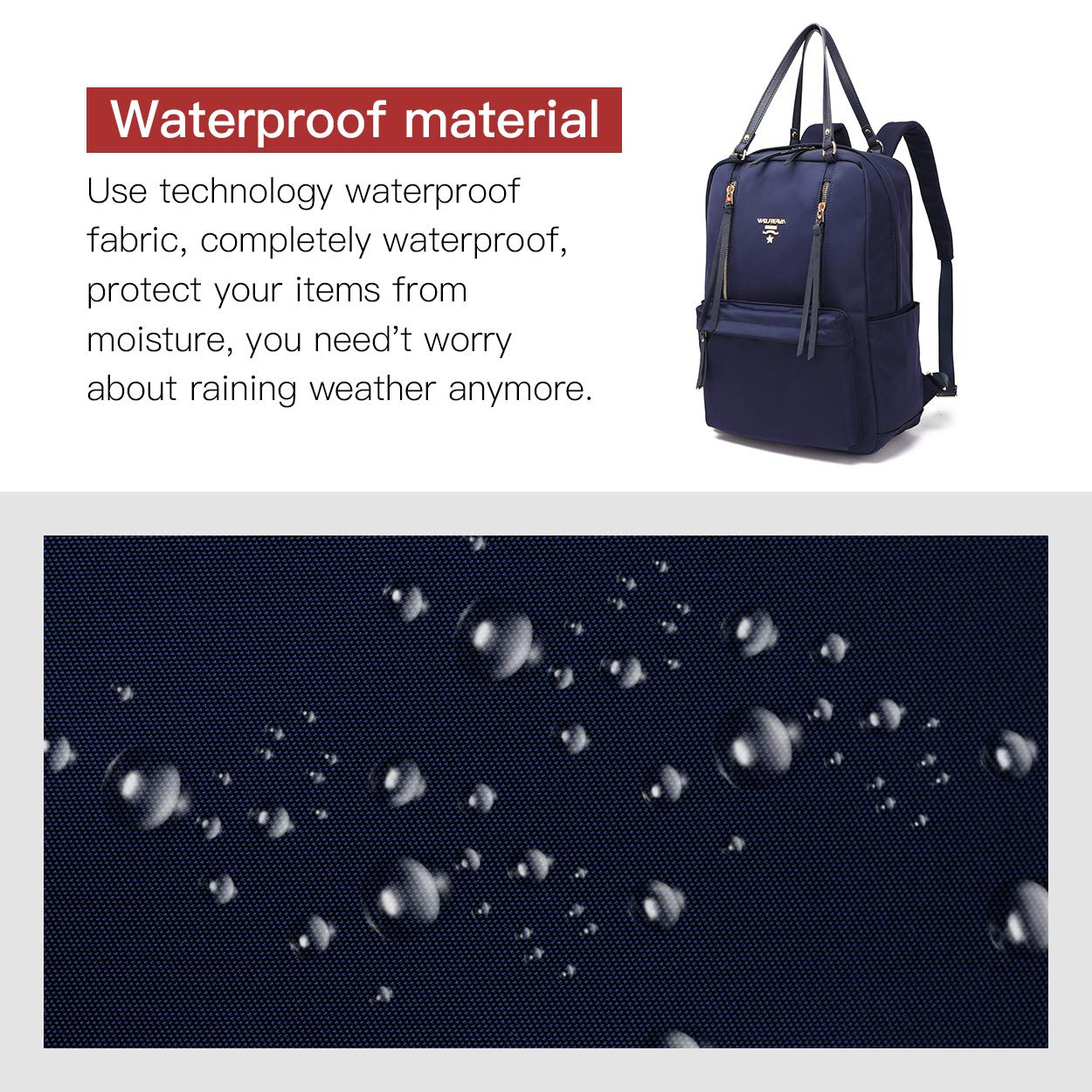 0328049a3113 Wolfrealm Laptop Backpacks for Women Lightweight Business Backpack Purse  Waterproof Travel Bags Fashion Ladies Notebook Bag (fit 14.1