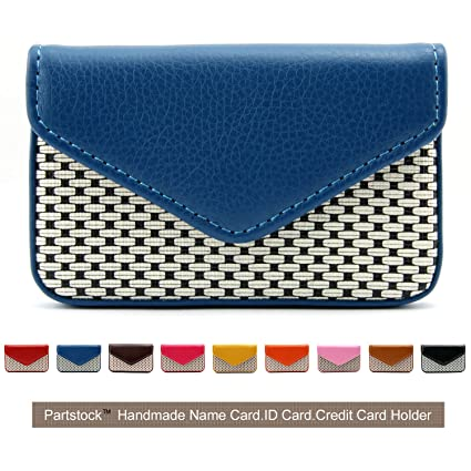 1ae50b8ed1b0 Partstock Multipurpose PU Leather Business Name Card Holder Wallet Leather  Credit card ID Case/Holder/Cards Case with Magnetic Shut.Perfect Gift - ...
