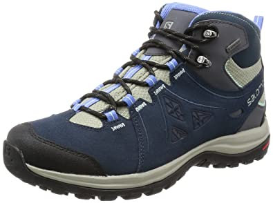 Salomon Women's Ellipse 2 Mid LTR GTX W Hiking Boot, Titanium/Deep Blue/