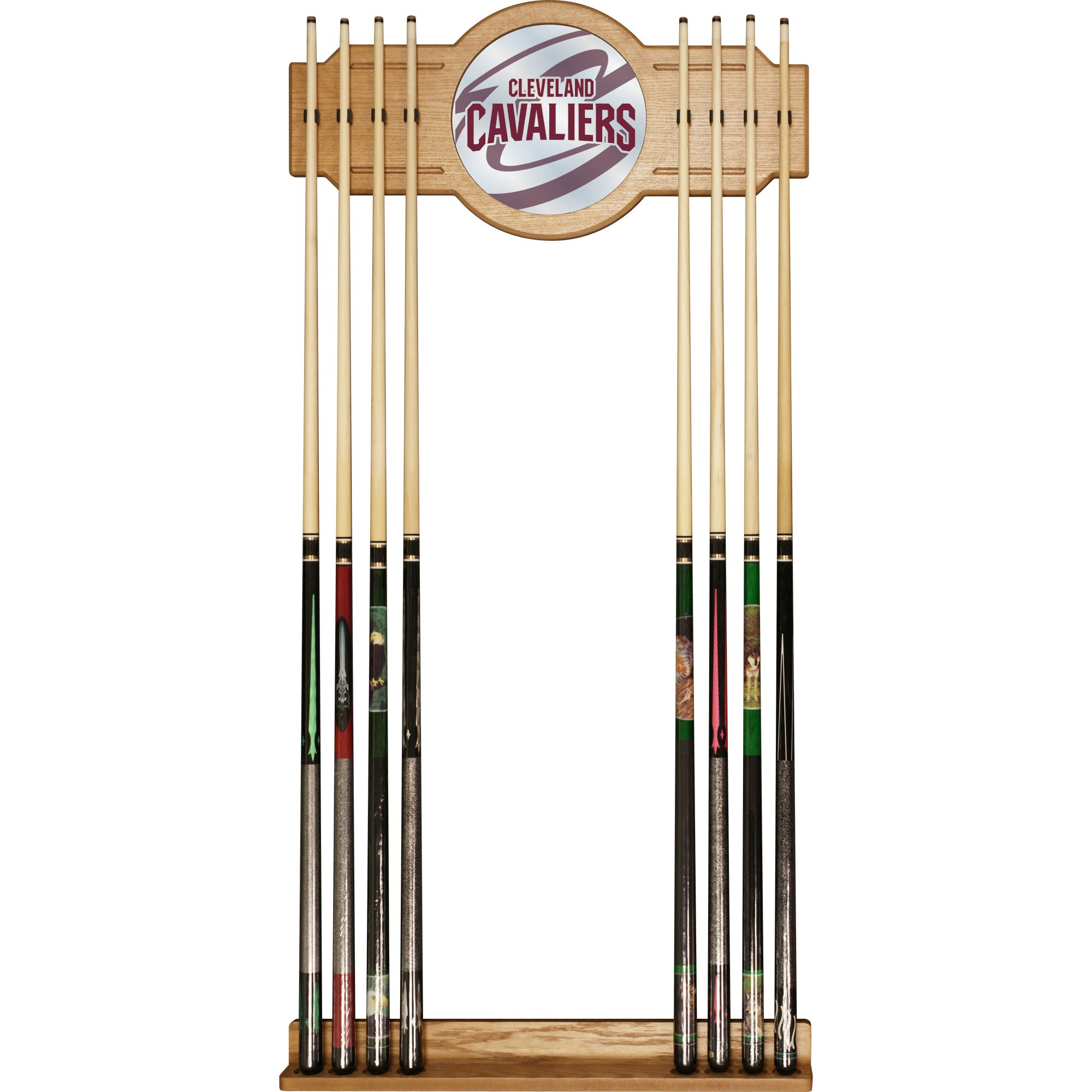 Trademark Gameroom NBA6000-CC2 NBA Cue Rack with Mirror - Fade - Cleveland Cavaliers by Trademark Global
