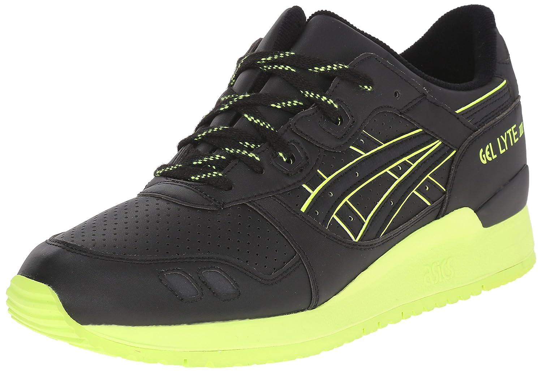 ASICS Men's GEL-Lyte III Retro Sneaker B00ZQ8J160 9 M US Black/Black/Energy Green