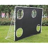 KLB Sport 7' x 5' Steel 3 in 1 Soccer Goal Targets W/Nets