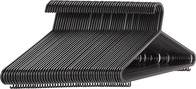 AmazonBasics - Perchas de plástico con barra para pantalón de traje, 50 unidades