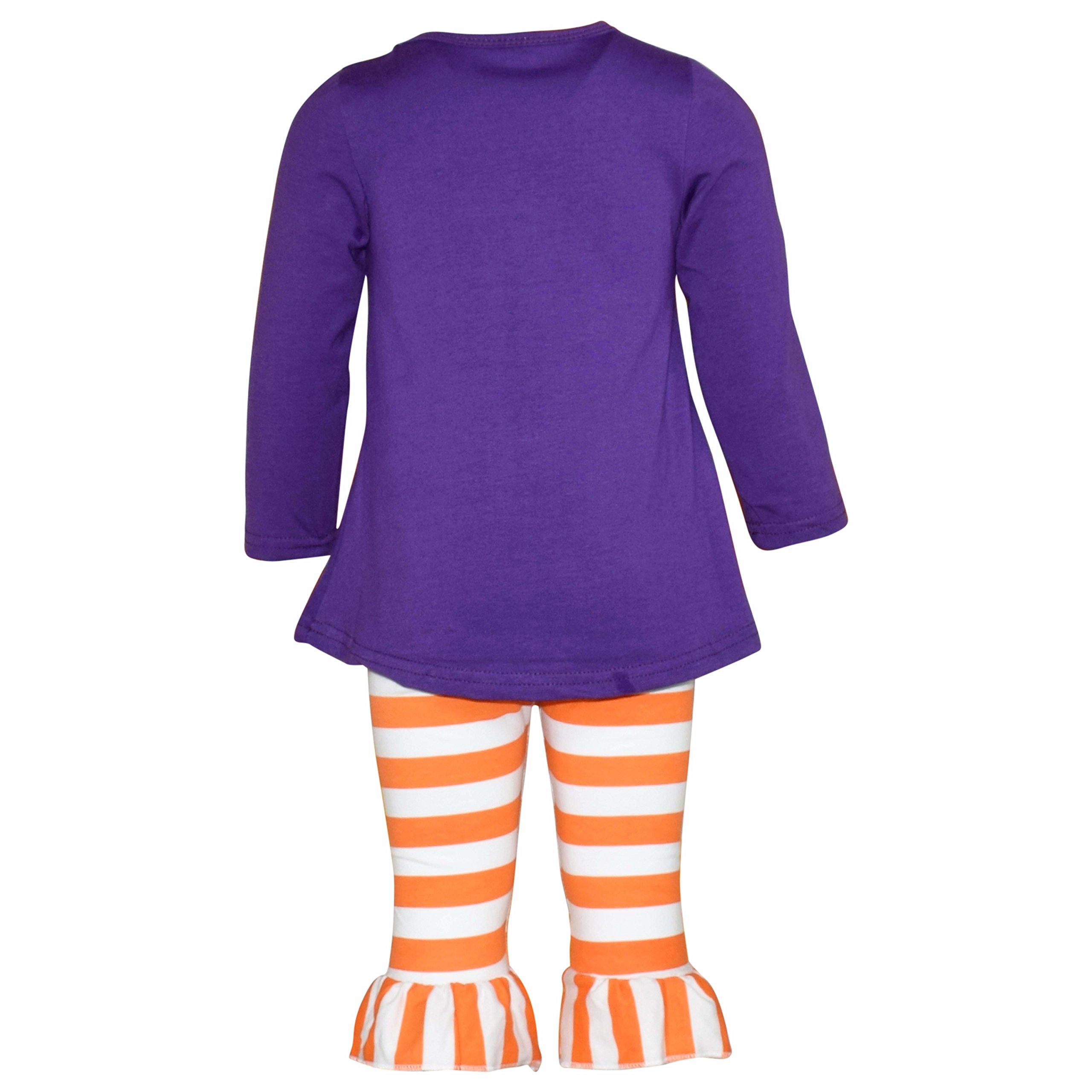 Unique Baby Girls Boo Thang Halloween Outfit with Spider Leggings (6/XL, Purple) by Unique Baby (Image #2)