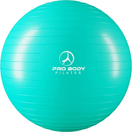 ProBody Pilates Anti-Burst Exercise Ball (Multiple Colors and Sizes) for Fitness, Balance, Yoga, Birthing, Stability, and Physical Therapy - Work Out Guide and Quick Pump Included
