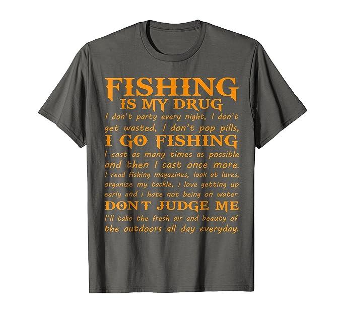 Amazon Quotes Fishing Is My Drug I Love Fishing T Shirt Clothing Stunning Love Fishing Quotes