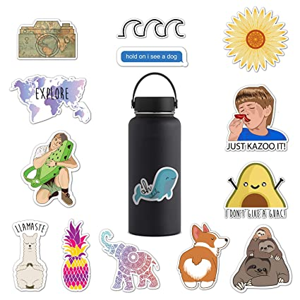 Amazon Com Ripdesigns 14 Cute Stickers For Water Bottles Laptops