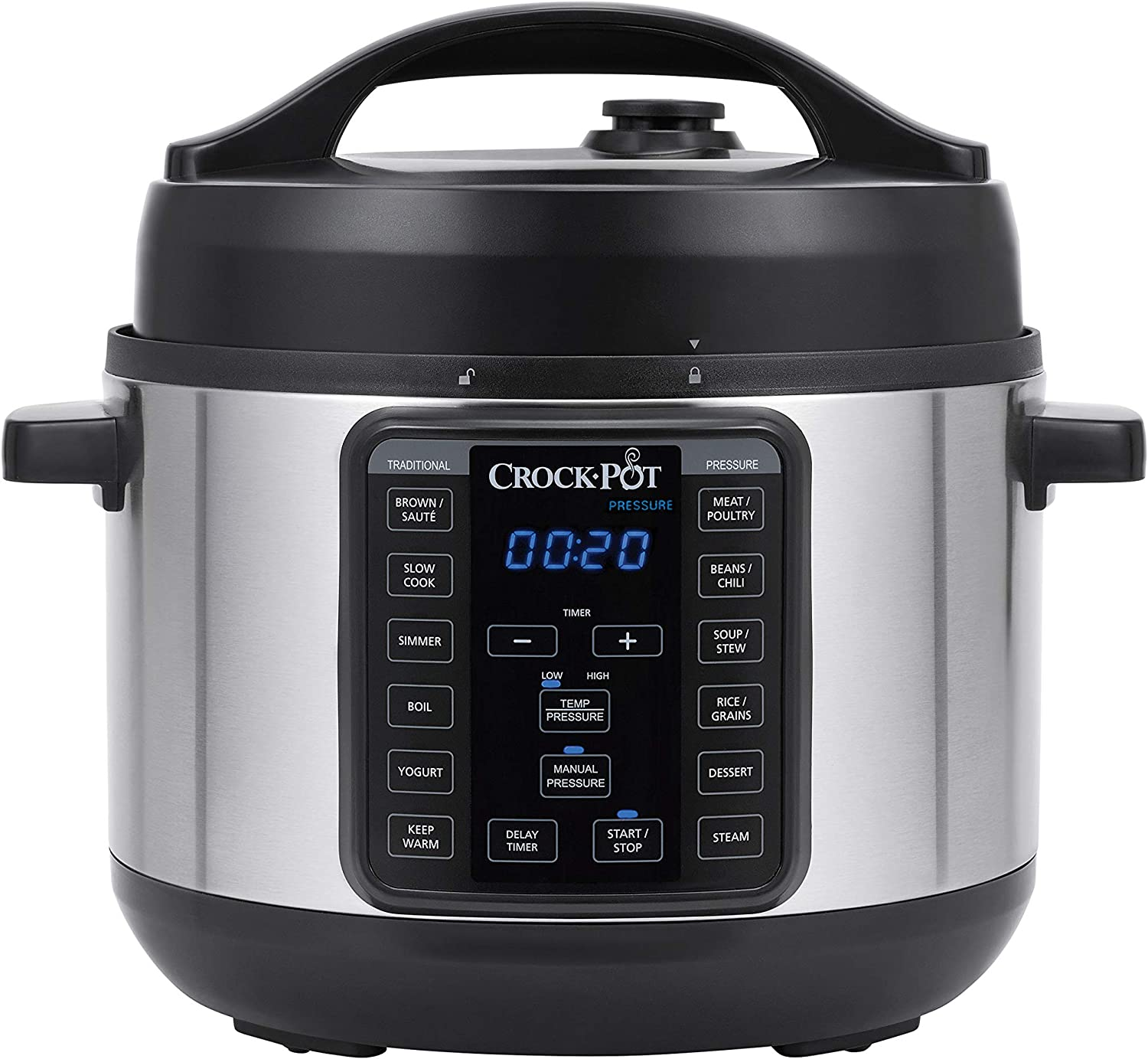 Amazon.com: Crock-pot 4-Quart Multi-Use MINI Express Crock Programmable  Slow Cooker with Manual Pressure, Boil & Simmer, 4QT, Stainless Steel:  Kitchen & Dining