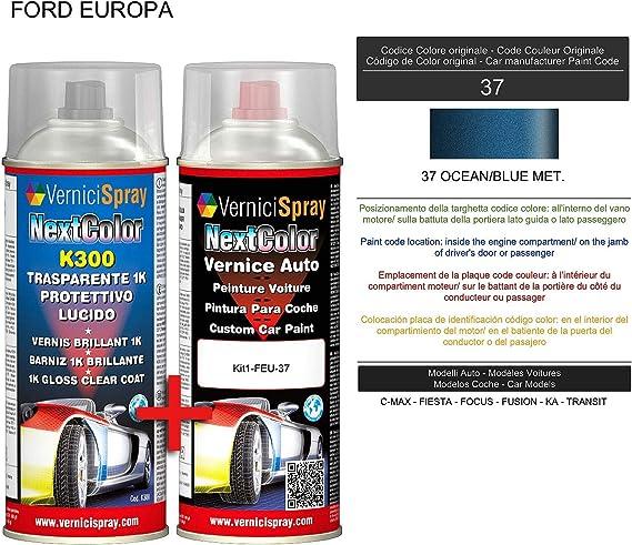 Vernicispray Lackspray Für Das Auto Metallic Perlfarbe 37 Ocean Blue Met Und Glanz Klarlack 400 Ml Sprühkanäle Baumarkt