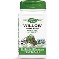 Nature's Way Willow Bark, 800 mg per serving, 100 Capsules