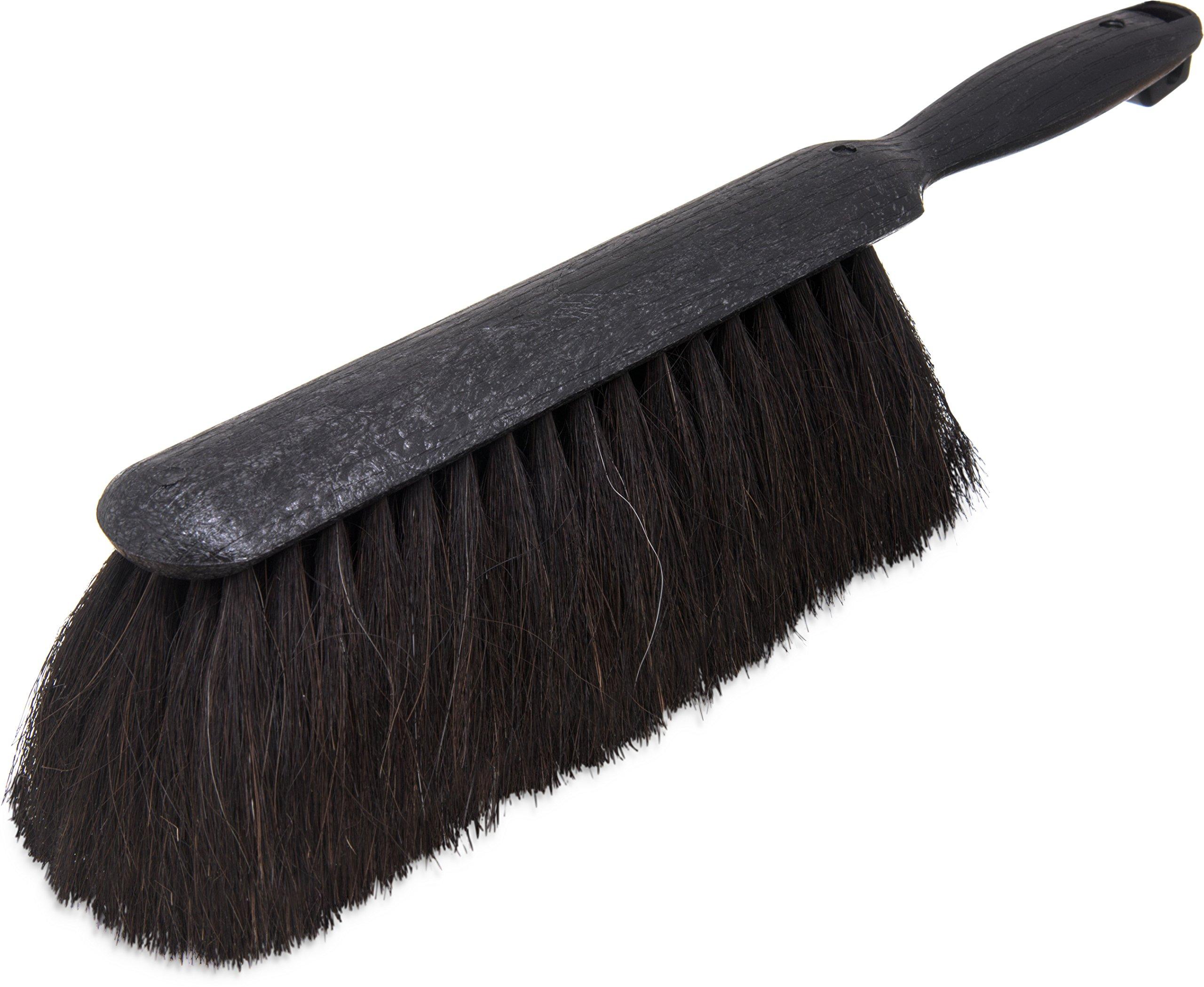 Carlisle 3638003 Flo-Pac Plastic Handle Counter Brush, Horsehair Bristles, 9'' Length, Black