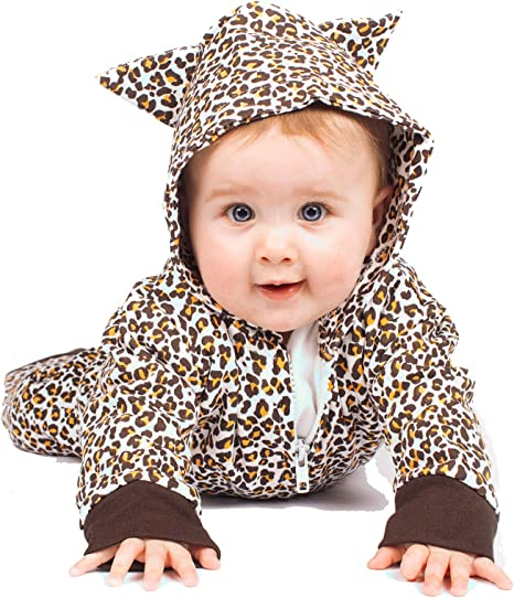 Cute bebé leopardo pijama disfraz de leopardo bebé Romer/leopardo ...