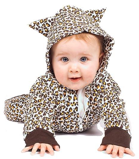 Cute bebé leopardo pijama disfraz de leopardo bebé Romer/leopardo ropa de bebé Gift-