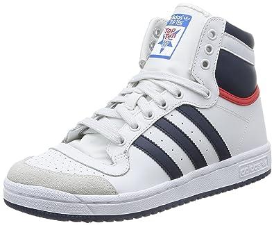 Basket 38 Blanco 5 Garçon Ball Adidas D74481 Rojo P5wx8YAq