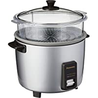 Panasonic SR-Y18FGELSH Conventional Rice Cooker, 1.8 L Capacity, Silver