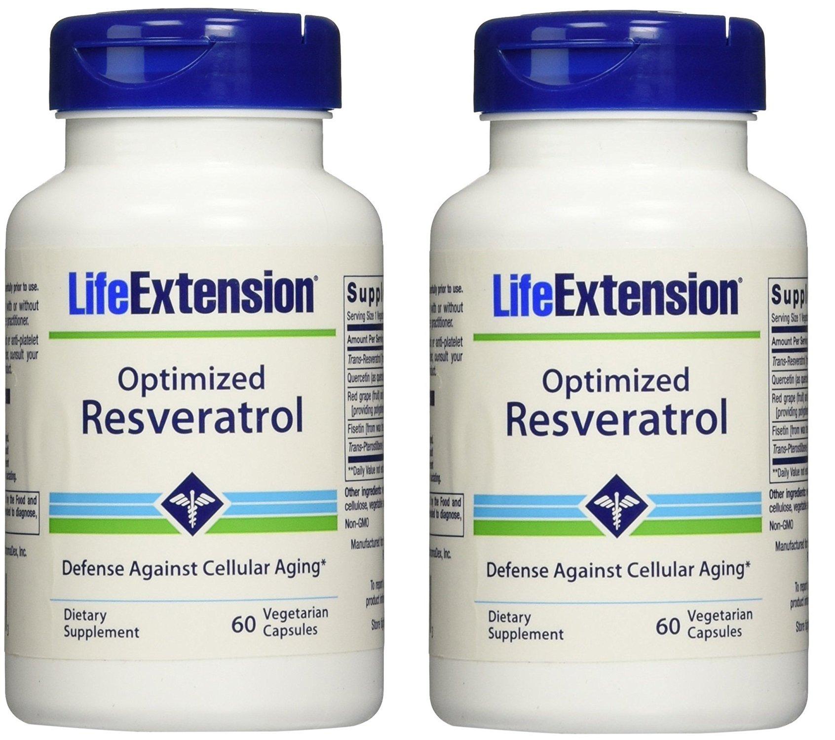 Optimized Resveratrol 60 Vegetarian Capsules-Pack-2