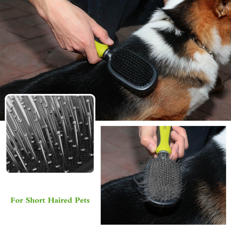 Pecute Púas Flexibles de Acero Inoxidable Cepillo para Cepillar y Da Masajea a los Perros y Gatos