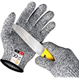 EVRIDWEAR Kid Sized Cut Resistant Work Gloves for Kitchen Use, Crafts, DIY, Garden and Yard works. Children Food Grade…