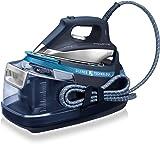 Rowenta Silence Steam Extreme Centro de Planchado de 6,5 Bares con autonomía ilimitada, Golpe de Vapor 420 g/min, silencioso con Suela Microsteam Laser 400, función Eco, 2400 W, 1.4 litros, 1.4, 0 Decibeles, Acero Inoxidable, Azul