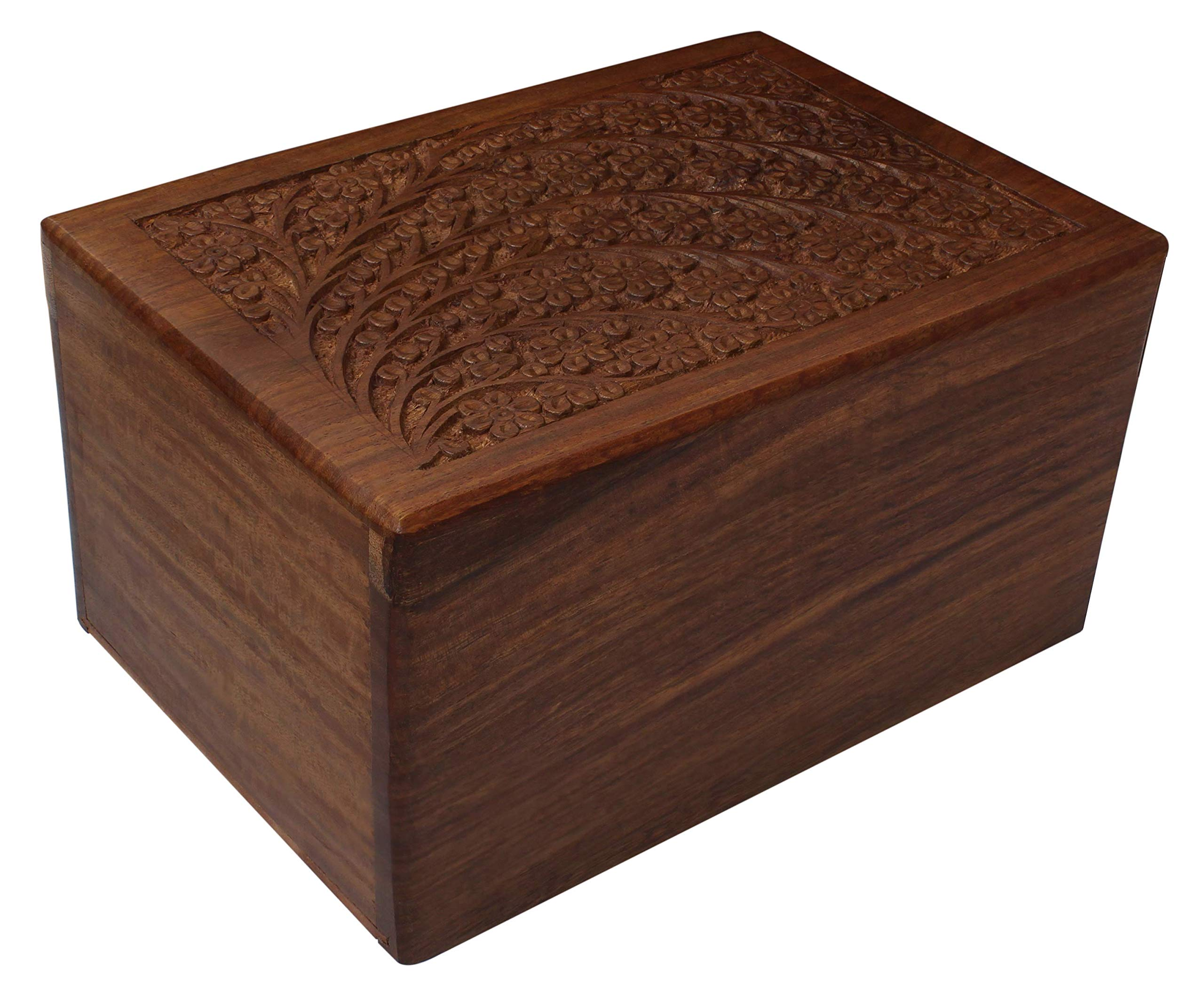 Hand-Carved Rosewood Urn Box (XX-Large)