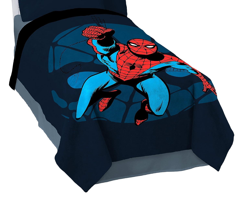 "Marvel Spiderman 'Comic' Plush 62"" x 90"" Twin Blanket"