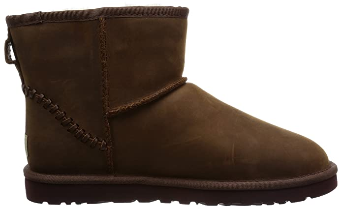 Shop UGG Mens Classic Mini Deco Brown Ankle Boots Size 17