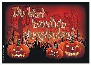 Juego De 12 Halloween Invitaciones Gruselige Divertido