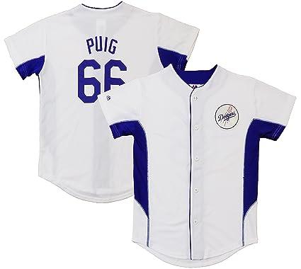 more photos 7e406 00f92 Amazon.com: Outerstuff Yasiel Puig Los Angeles Dodgers White ...