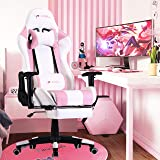 Gaming Chair with Footrest Gamer Chair Computer Chair Massage Gaming Chairs High Back Ergonomic Adjustable Office Chair with