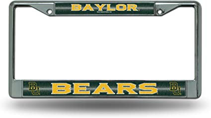 Rico Industries NCAA Texas Longhorns Bling Chrome License Plate Frame with Glitter AccentBling Chrome License Plate Frame with Glitter Accent 6 x 12.25-inches Silver