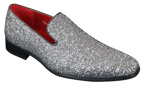 Doré Argenté Sans Soirée Habillé Chaussures Lacets Cuir Paillettes Cx8twwUq