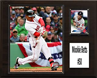 """product image for C&I Collectables MLB Boston Red Sox Mookie Betts Player Plaque, Brown, 12"""" x 15"""""""