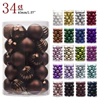 KI Store Christmas Baubles Shatterproof Christmas Tree Decorations for Xmas Party Wedding Decor Ornaments Hooks Included