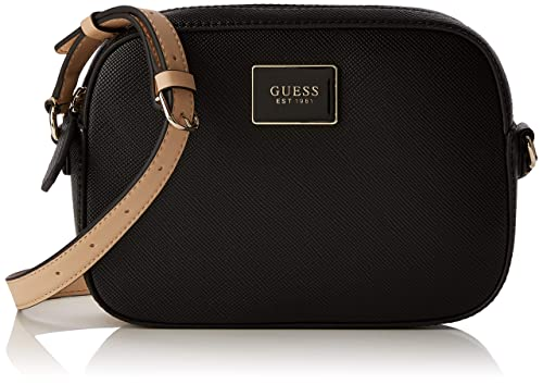dd0b3901691 Guess Kamryn Crossbody Top Zip, Women's Cross-Body Bag, Black, 22x16x5.
