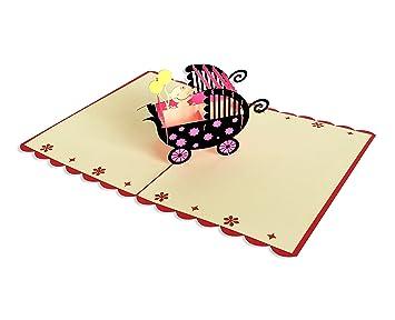 Yokarta 3d pop up cards new born baby congratulation message card yokarta 3d pop up cards new born baby congratulation message card with envelope m4hsunfo