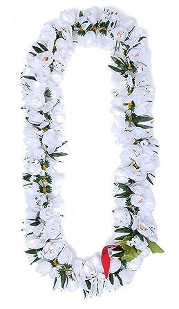 Amazon hawaiian luau party kapiolani tuberose artificial fabric hawaiian luau party kapiolani tuberose artificial fabric flower lei white mightylinksfo