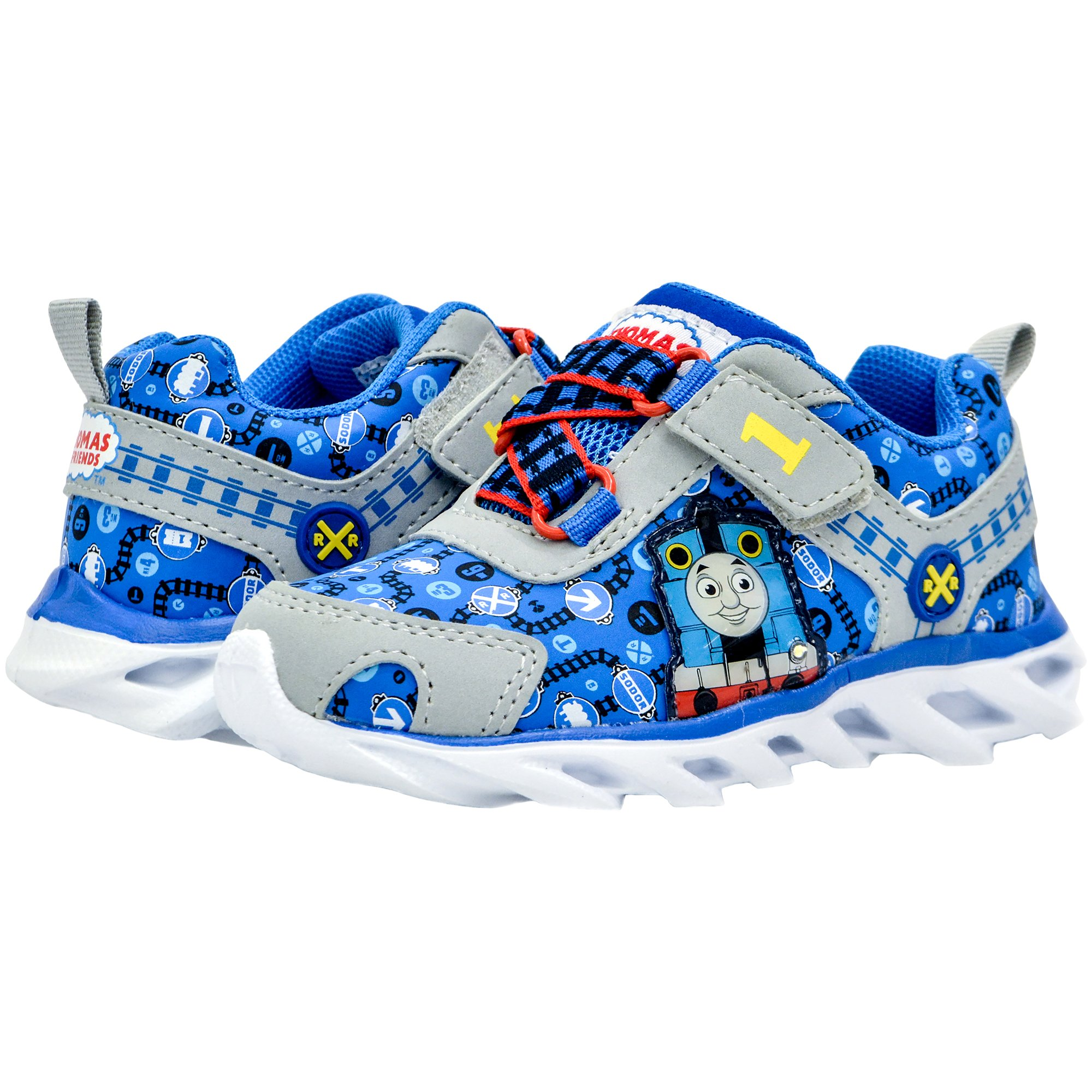 Kids Toddler Boys Thomas The Tank Engine Light Up Sneakers Blue Size 6