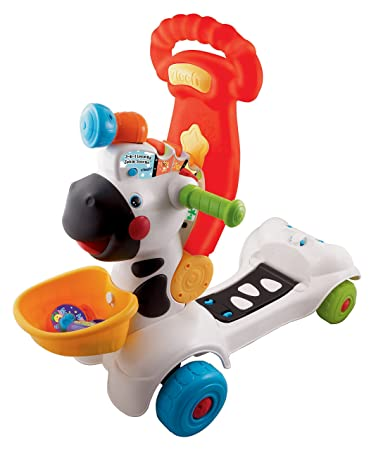 Amazon Com Vtech 3 In 1 Learning Zebra Scooter Toys Games