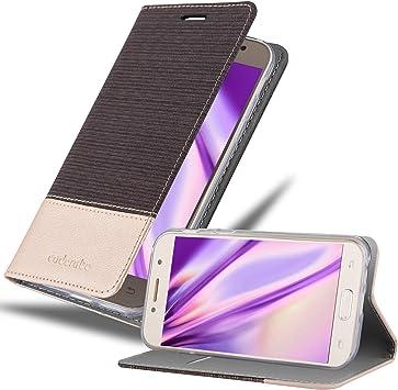 Cadorabo Funda Libro para Samsung Galaxy A5 2017 en Antracita Oro ...