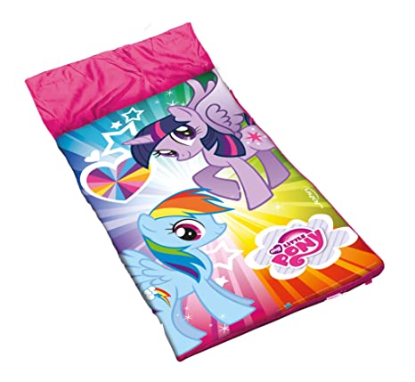 John-Toys - Saco de dormir My Little Pony para niños, color rosa,