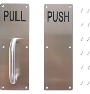 Sayhi Set of Stainess Steel Door Handle PULL and PUSH Plate ...