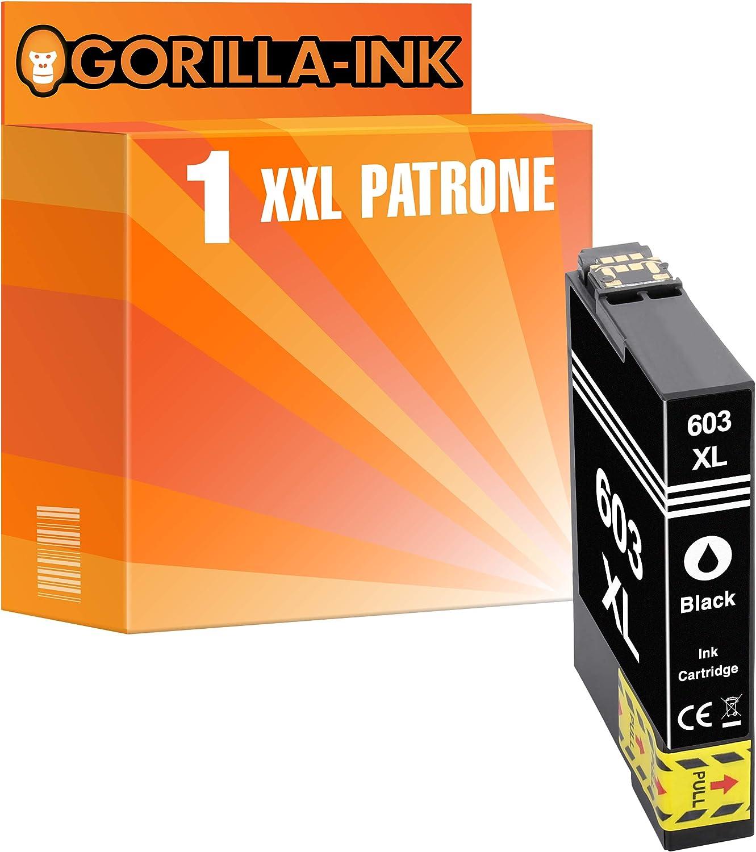 Gorilla Ink 1 Patrone Xxl Kompatibel Mit Epson 603 Xl 603xl Black Geeignet Für Epson Expression Home Xp 2100 Xp 2105 Xp 3100 Xp 3105 Xp 4100 Xp 4105 Bürobedarf Schreibwaren