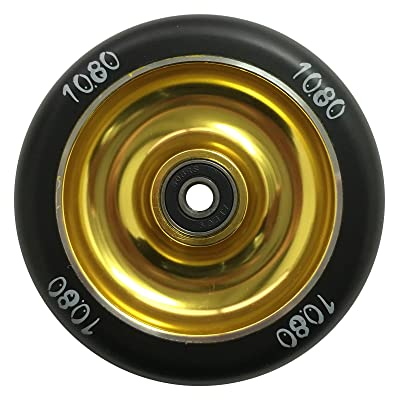 1080 Stunt Scooter Wheel 100mm Solid Alloy Core - Gold/Black