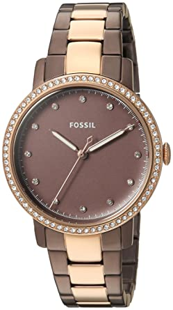 Fossil Womens Neely Quartz Stainless Steel Casual Watch Color:Brown (Model: