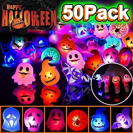 Amazon.com: Paquete de 50 anillos de luz LED para niños ...