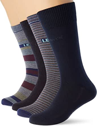 Levi's Stripes Regular Cut Socks Giftbox (4 Pack) Calcet (Pack de 4) Unisex Adulto
