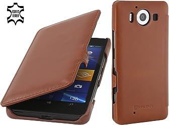 StilGut Book Type avec Clip, Housse en Cuir pour Microsoft Lumia 950 & Lumia 950 Double SIM