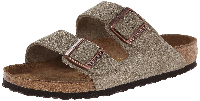Amazon.com | Birkenstock Arizona - Suede Unisex Taupe Suede Sandals |  Sandals